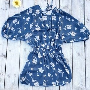 Anthropologie Paper Crane Fly Away Floral Dress
